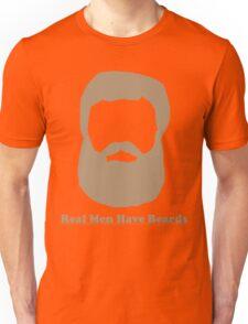 Real Men Have Beards (Brown Beard) Unisex T-Shirt