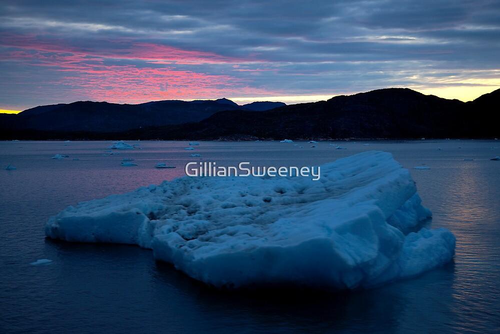 Icebergs Sunset by GillianSweeney