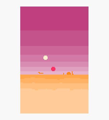 Pixel Tatooine Landscape Photographic Print