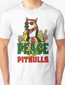 PEACE LOVE AND PIT BULLS T-Shirt