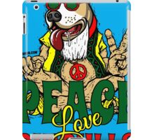 PEACE LOVE AND PIT BULLS iPad Case/Skin