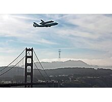 SPACE SHUTTLE TO FLY OVER THE GOLDEN GATE BRIDGE Photographic Print