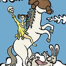 Teddy Bear And Bunny - Unicorn Ride by Brett Gilbert
