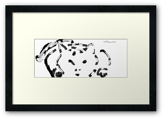 kitten sketch -(230912)- digital artwork/ms paint by paulramnora
