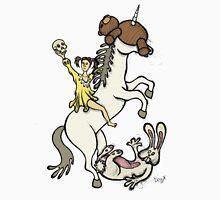 Teddy Bear And Bunny - Unicorn Ride Unisex T-Shirt