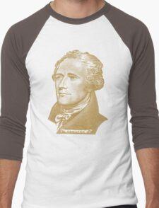Alexander Hamilton Portrait Men's Baseball ¾ T-Shirt