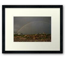 Storm approaching, Hallett Cove,S.A. Framed Print
