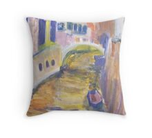 Venice in Abstract Throw Pillow