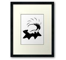 Prancing Skunk Framed Print