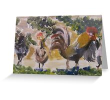 Cocks in Marseilles Greeting Card