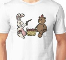 Teddy Bear And Bunny - A Dangerous Game Unisex T-Shirt