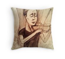 susan keser - classical violinist Throw Pillow