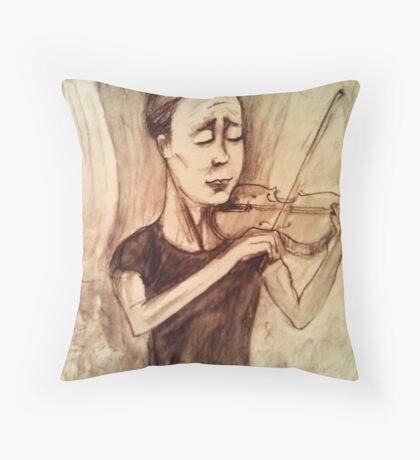 susan keser - classical violinist Throw Pillow