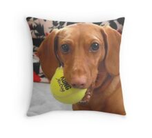 Sadie and her Ball Throw Pillow