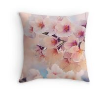 Sakura Cherry Blossom, Nara, Japan Throw Pillow