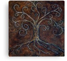 Tree of Life ( golden ) Canvas Print