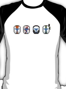 Pixel Delta Squad Helmets (Group) T-Shirt