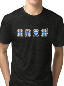 Pixel Delta Squad Helmets (Group) Tri-blend T-Shirt