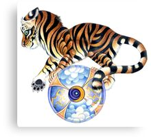 Balancing Tiger Canvas Print