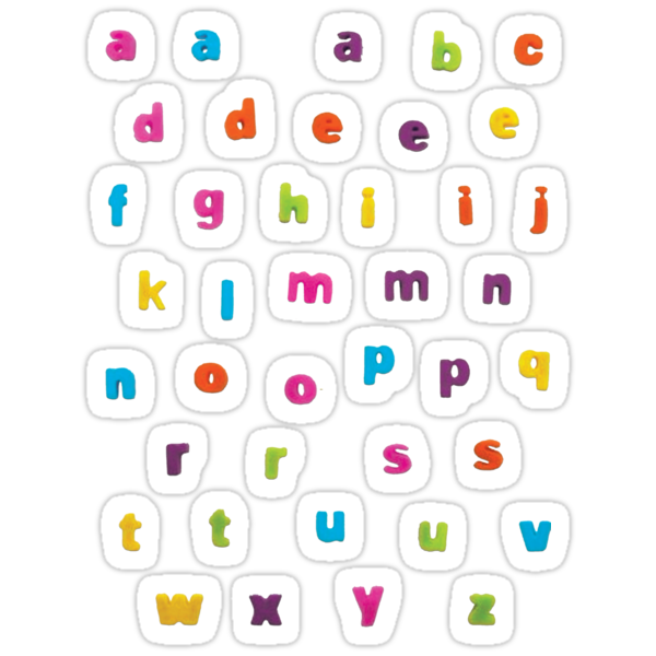 "Alphabetic Fridge ""Magnets"" by boltage69"