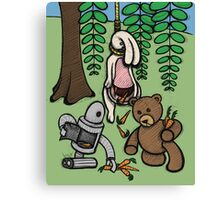 Teddy Bear And Bunny - Making The Most Of It Canvas Print
