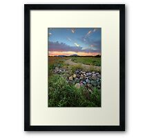 Peavine Sunset Framed Print