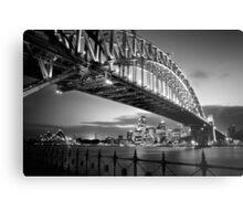 Sydney Harbour Bridge Black & White Metal Print