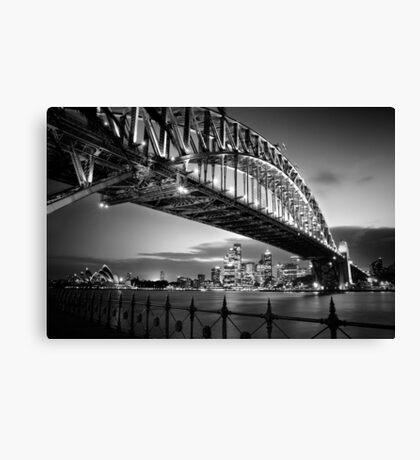 Sydney Harbour Bridge Black & White Canvas Print
