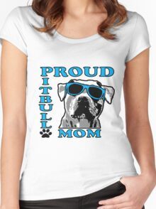 PROUD PIT BULL MOM 2 Women's Fitted Scoop T-Shirt