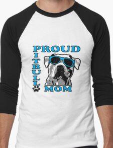 PROUD PIT BULL MOM 2 Men's Baseball ¾ T-Shirt