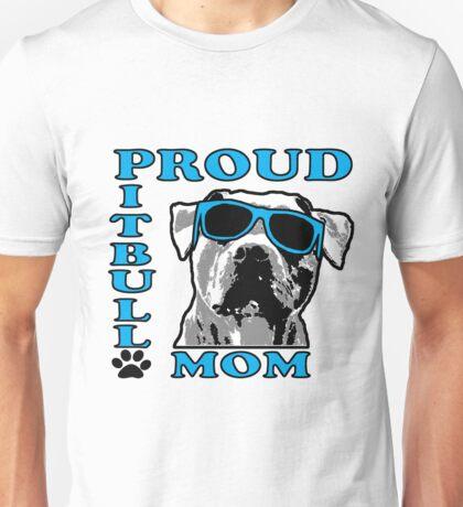 PROUD PIT BULL MOM 2 Unisex T-Shirt