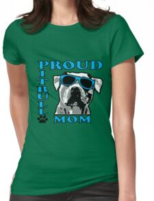 PROUD PIT BULL MOM 2 Womens Fitted T-Shirt