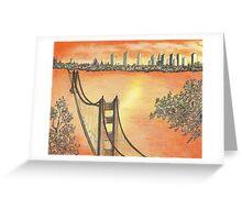 A GOLDEN GATE  SUNSET Greeting Card