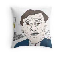 Greek Prime Minister Antonis Samaras cartoon Throw Pillow