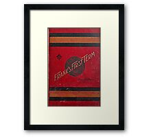 Old Book Graphic Shirt Framed Print