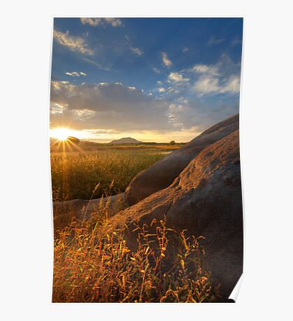 Rays and Rocks Poster