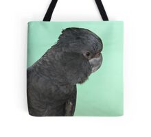 Portrait of a Red-tailed Black Cockatoo Tote Bag