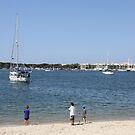 Boys and Boats on the Broadwater by aussiebushstick
