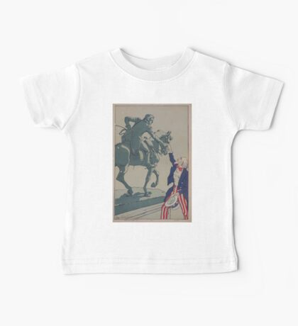 Uncle Sam shaking hands with the marquis de Lafayette 1757 1834 Baby Tee