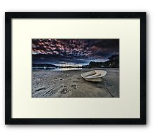 When Rain Clouds Play Framed Print