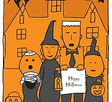 Happy Halloween Card by springwoodbooks