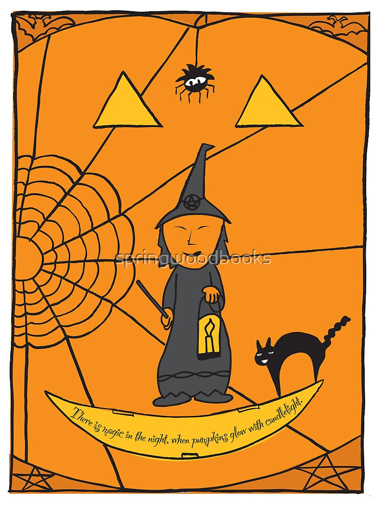 Halloween Witch Card by springwoodbooks