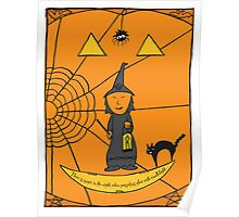 Halloween Witch Card Poster