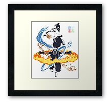 Avatar Aang and Korra Framed Print