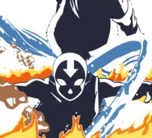 Avatar Aang and Korra Sticker