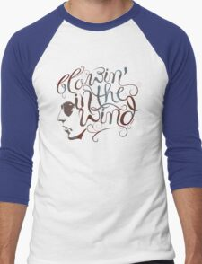 BOB DYLAN, BLOWIN' IN THE WIND Men's Baseball ¾ T-Shirt