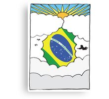 Emigrating Brazil Card Canvas Print