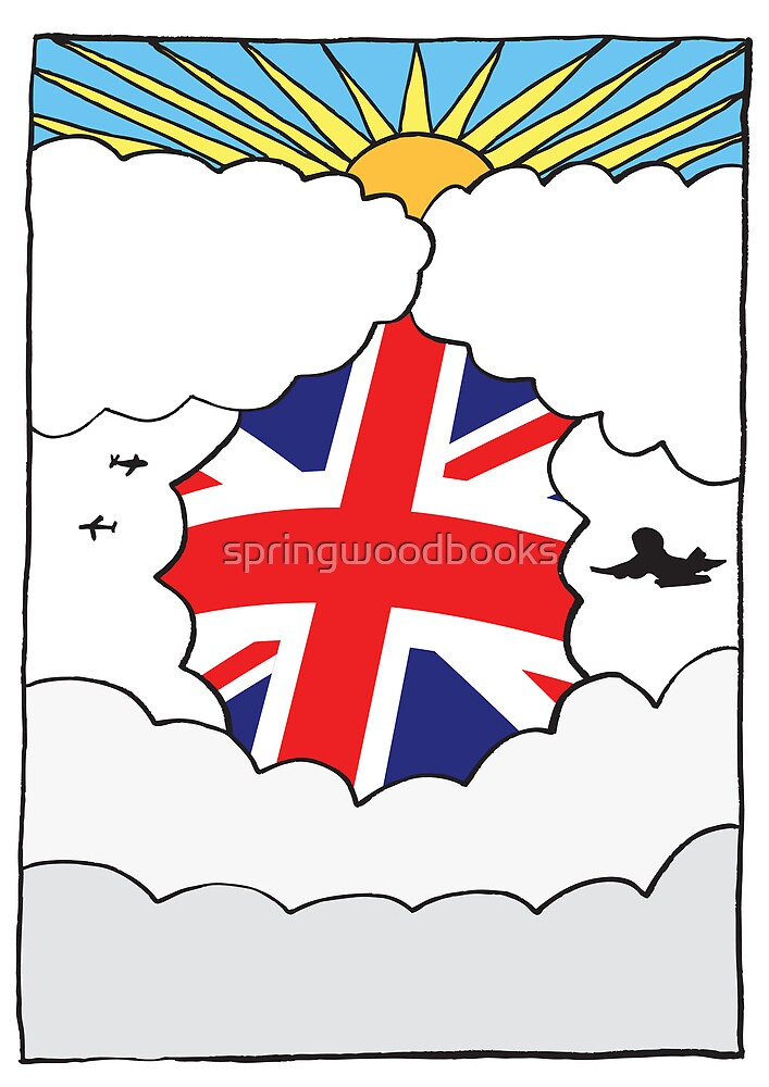 Emigrating To Great Britain Card by springwoodbooks