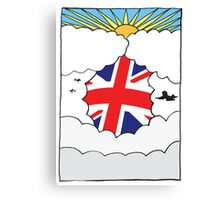 Emigrating To Great Britain Card Canvas Print