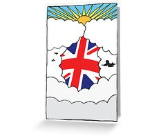 Emigrating To Great Britain Card Greeting Card
